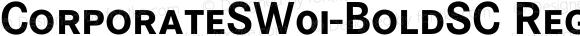 CorporateSW01-BoldSC Regular Version 1.1