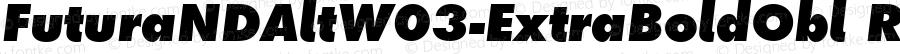FuturaNDAltW03-ExtraBoldObl Regular Version 2.00