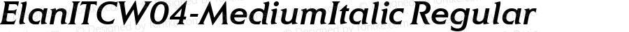 ElanITCW04-MediumItalic Regular Version 1.00