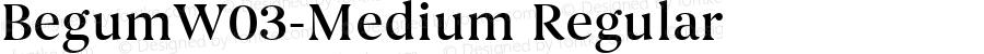 BegumW03-Medium Regular Version 1.30