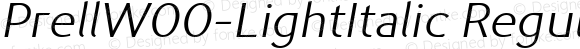 PrellW00-LightItalic Regular Version 1.10