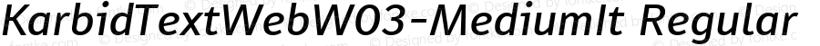 KarbidTextWebW03-MediumIt Regular Version 7.504