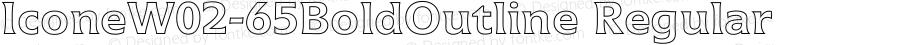 IconeW02-65BoldOutline Regular Version 1.01