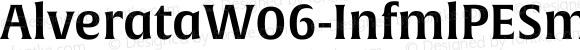 AlverataW06-InfmlPESmBd Regular Version 1.1