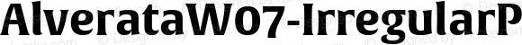 AlverataW07-IrregularPEBd Regular Version 1.000