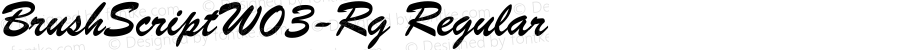 BrushScriptW03-Rg Regular Version 1.00