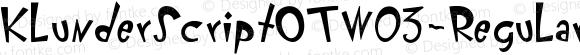 KlunderScriptOTW03-Regular Regular Version 7.504