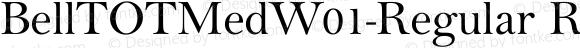 BellTOTMedW01-Regular Regular Version 1.00