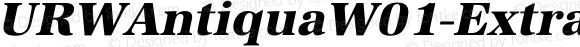 URWAntiquaW01-ExtraBoldObl Regular Version 1.00