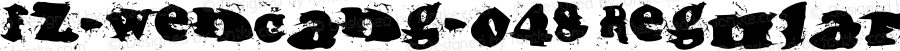 fz-wencang-048 Regular Macromedia Fontographer 4.1.5 11/16/01