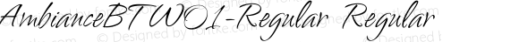 AmbianceBTW01-Regular Regular Version 1.00