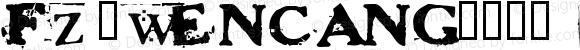 fz-wencang-046 Regular Altsys Fontographer 4.1 11/10/97