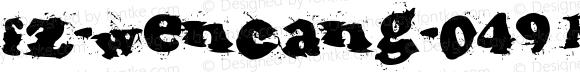 fz-wencang-049 Regular Macromedia Fontographer 4.1.5 11/16/01