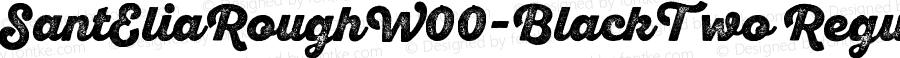 SantEliaRoughW00-BlackTwo Regular Version 1.00