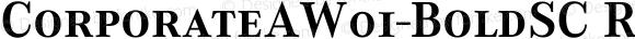 CorporateAW01-BoldSC Regular Version 1.1
