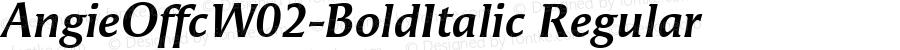 AngieOffcW02-BoldItalic Regular Version 7.504