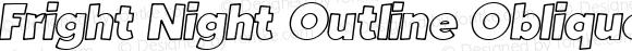 Fright Night Outline Oblique
