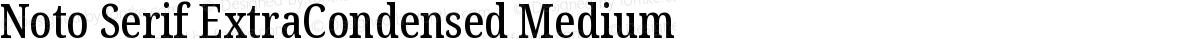Noto Serif ExtraCondensed Medium