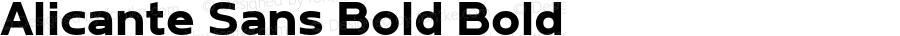 Alicante Sans Bold Bold Version 1.00