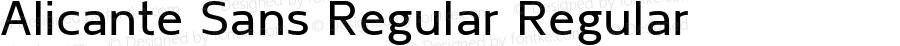 Alicante Sans Regular Regular Version 1.00