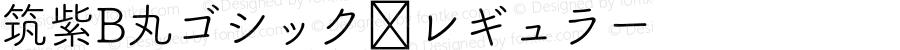 筑紫B丸ゴシック レギュラー