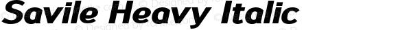 Savile Heavy Italic