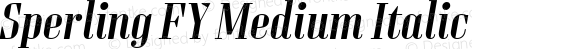 Sperling FY Medium Italic