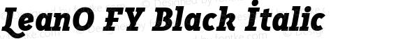 LeanO FY Black Italic