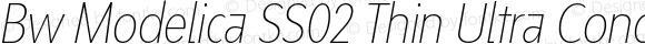 Bw Modelica SS02 Thin Ultra Condensed Italic