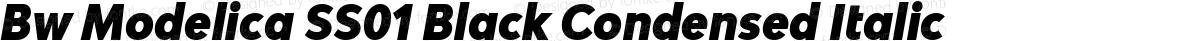 Bw Modelica SS01 Black Condensed Italic