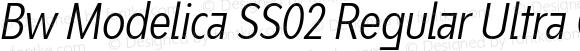 Bw Modelica SS02 Regular Ultra Condensed Italic