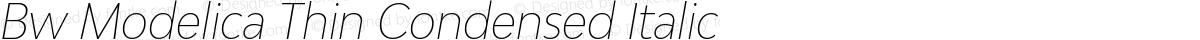 Bw Modelica Thin Condensed Italic