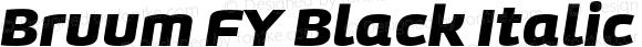 Bruum FY Black Italic