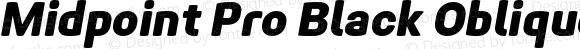 Midpoint Pro Black Oblique
