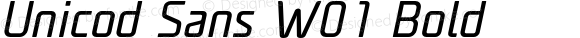 Unicod Sans W01 Bold Version 1.00