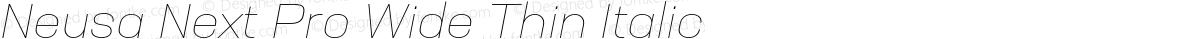 Neusa Next Pro Wide Thin Italic