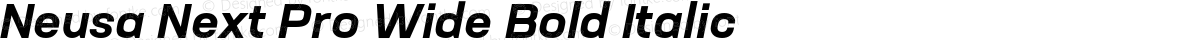 Neusa Next Pro Wide Bold Italic