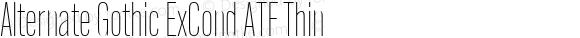 Alternate Gothic ExCond ATF Thin Version 1.002