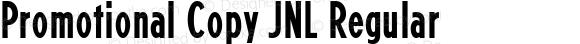 Promotional Copy JNL Regular Version 1.00, SI, November 28, 2012, initial release