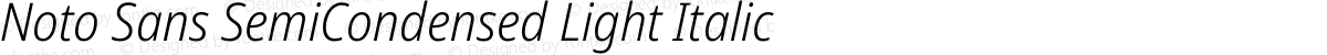 Noto Sans SemiCondensed Light Italic