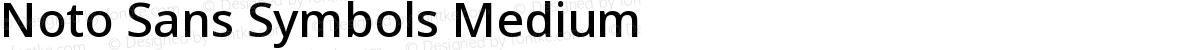 Noto Sans Symbols Medium