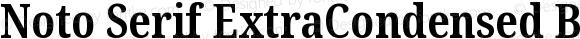 Noto Serif ExtraCondensed Bold