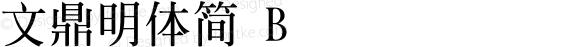 文鼎明體簡 B