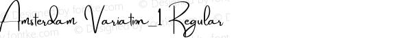 Amsterdam Variation_1 Regular Version 1.00;October 9, 2017;FontCreator 11.0.0.2388 64-bit