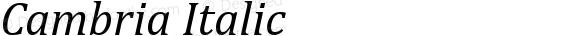 Cambria Italic