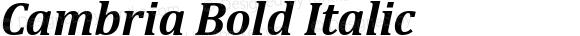 Cambria Bold Italic