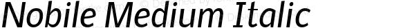 Nobile Medium Italic