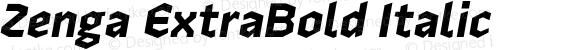 Zenga ExtraBold Italic