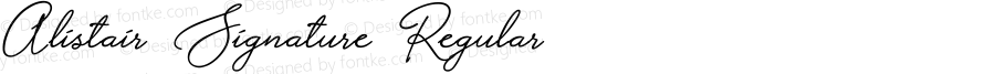 Alistair Signature Regular Version 001.001