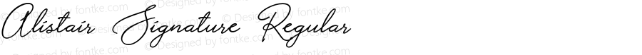 Alistair Signature Regular